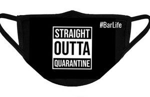 Straight out of Quarantine face mask bartender for Sale in York, PA