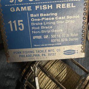 Penn Fishing Reel Big Game for Sale in Corona, CA