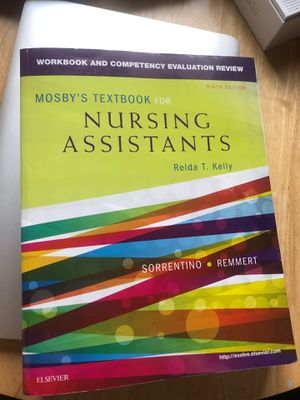 Mosebys nursing assistants workbook CNA for Sale in Fresno, CA