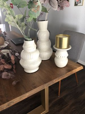 Vase and candle holder for Sale in Westminster, CA