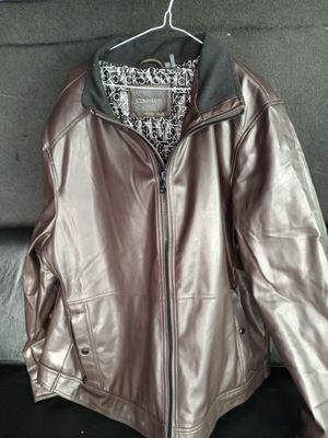 Calvin Klein leather jacket XXL for Sale in Harbor City, CA