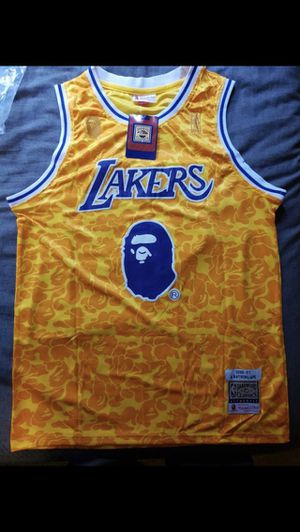 Bape x Mitchell and Ness Lakers Jersey for Sale in Miami, FL