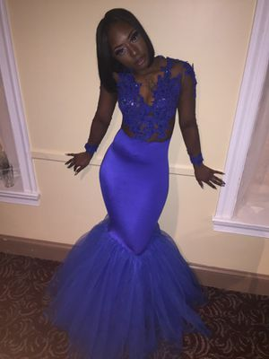 Royal blue prom dress for Sale in Baltimore, MD