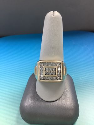 14K Yellow Gold Man's Cluster Ring 12.39G for Sale in Littleton, CO