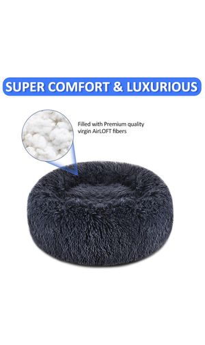ANWA Medium Washable Dog Round Bed, Dog Donut Bed Small Dog, Plush Dog Calming Bed for Sale in Las Vegas, NV