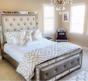 Z Gallerie Ava Queen Bed for Sale in Los Angeles, CA