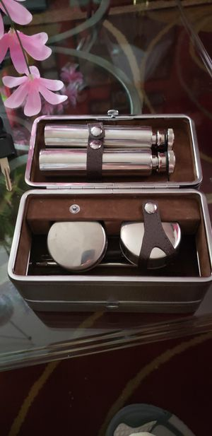 Antique flask kit with 2 shot glasses and more for Sale in McKeesport, PA