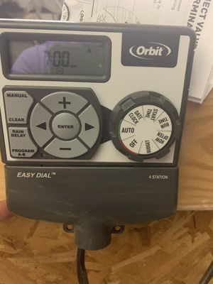 Gently used 4 station orbit sprinkler control for Sale in Acampo, CA