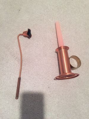 Antique copper candle holder and snuffer for Sale in Alexandria, VA