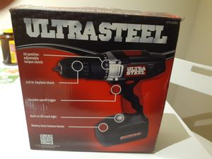Ultra steel cordless Drill 12 volt for Sale in Miami, FL