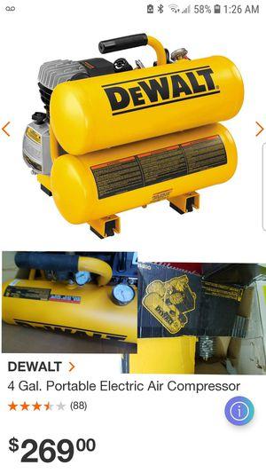 Dewalt 4Gal Twin-Stack Compressor for Sale in Austell, GA