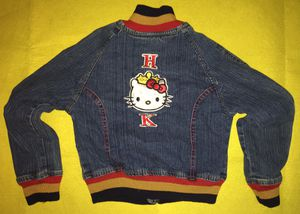 HELLO KITTY CHILDS (6X) DENIM JACKET & TOTE / BAG - lightly used for Sale in Metuchen, NJ