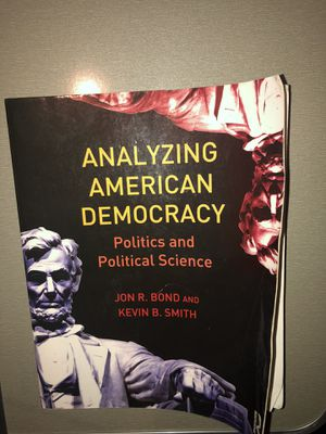 Analyzing American Democracy Politics and Political Science (Textbook) for Sale in Murrieta, CA