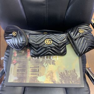 Gucci Marmont 2.0 Matelasse Triple Pouch Leather Belt Bag for Sale in Atlanta, GA