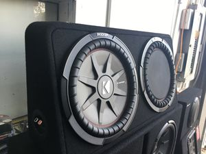 """Kicker comp comprt RT series 12"""" subwoofer woofer bass speaker audio sound enclosure box for Sale in Compton, CA"""