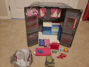 Our Generation Camper + American Girl hiking/camping bag for Sale in Kirkland, WA