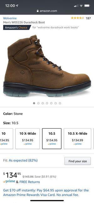Men's Wolverine DuraShock work boots for Sale in Maple Valley, WA