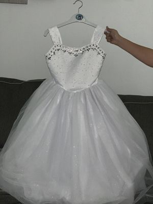 Elegant Girl White Dress!! **Used Once** for Sale in The Bronx, NY