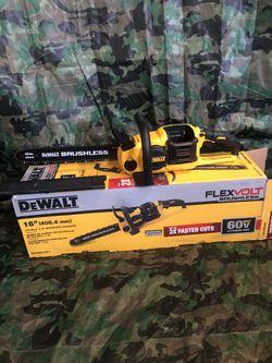 "Dewalt Chainsaw 16"" Flex Volt Brushless ""tool Only"" for Sale in Anaheim, CA"