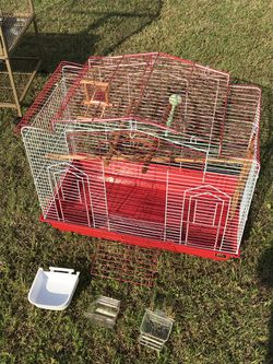 Beautiful bird cage see description for what's included for Sale in Oklahoma City,  OK