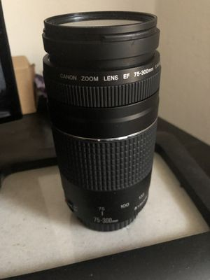 75-300mm canon lens for Sale in Pittsburgh, PA