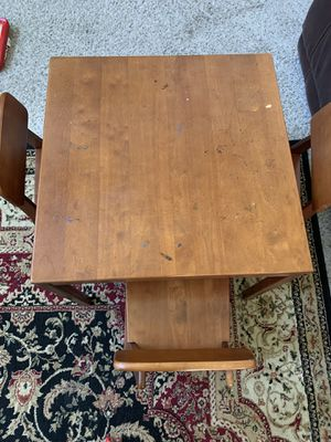 Kids wooden table and 4 chair. for Sale in Galena, OH