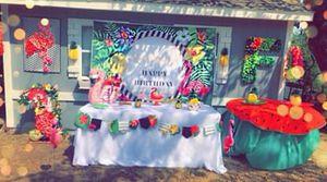Birthday decorations (flamingo theme,Hawaiian theme) for Sale in Dallas, TX