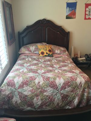 Queen Sleigh Bed Frame for Sale in Brentwood, CA