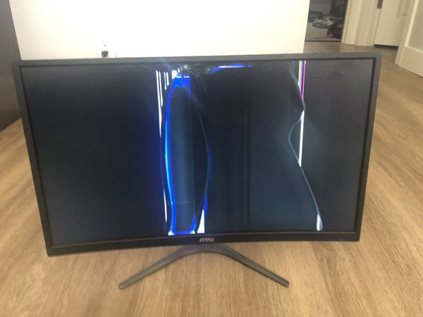 Msi g24c curves Monitor for parts