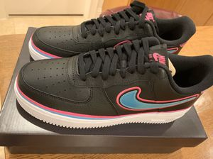 Miami Heat Vice Nike Air Force 1 Shoes Limited Edition South Beach for Sale in Cooper City, FL