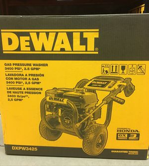 Dewalt Honda gas pressure washer 3400 psi 2.5 gmp for Sale in Manassas, VA