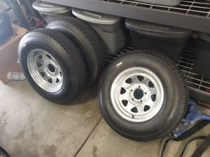 Trailer Wheels Tires NEW 205/75 14 Galvanized for Sale in Stevenson Ranch, CA