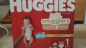 Size 1 huggies little snugglers plus for Sale in Castro Valley, CA