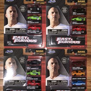 Micros Machines Jada Toys Nano Hollywood Rides Fast And Furious for Sale in Lancaster, CA