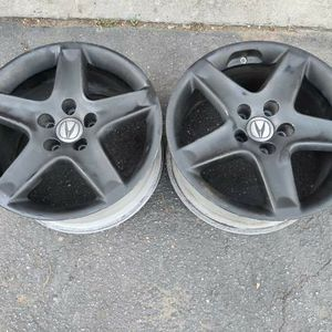 Two Acura TL 17x8 inch aluminum wheels. 5 on 114.3 lug pattern. $60 ea for Sale in Montebello, CA