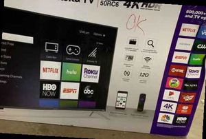 "New 50"" Hitachi ROKU TV Open box W/ Warranty IIY for Sale in Ontario, CA"