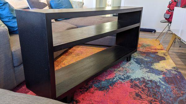 Black wood console / Side board table