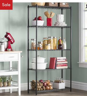 SHIPS for$5 , Heavy Duty metal Commercial storage Rack organizer kitchen pantry garage container shelves bakers for Sale in Henderson, NV