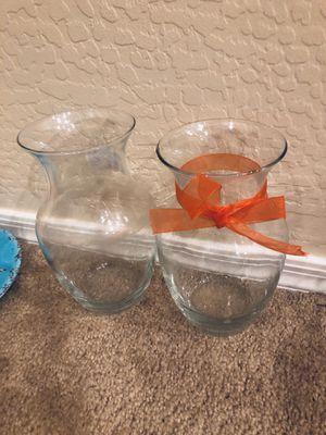 Matching FTE flower vases good for crafts, center pieces for Sale in Chandler, AZ