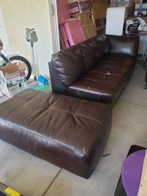 Couch and ottoman for Sale in Phoenix, AZ