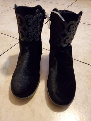Black velvet boots for Sale in Bell Gardens, CA