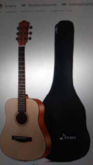 Donner Acoustic Guitar, 1 month old, 50% price for Sale in Des Plaines, IL
