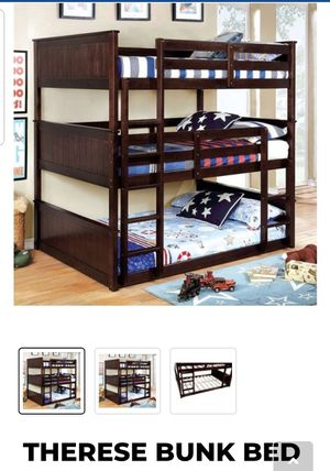 BRAND NEW TWIN TWIN TRIPLE BUNK BED ADD MATTRESS TWIN AND FULL ADD FURNITURE AVAILABLE LITERA INDIVIDUAL MATRIMONIAL for Sale in Montclair, CA