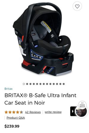 BRITAX B SAFE ULTRA INFANT CAR SEAT & BASE for Sale in Menomonee Falls, WI