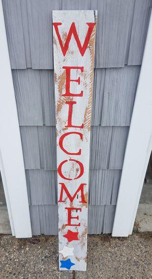 Hand painted outdoor Welcome wood sign for Sale in Alden, MI