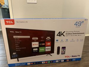 """TCL ROKU TV 49"""" 4K Stunning picture for Sale in Riverside, CA"""