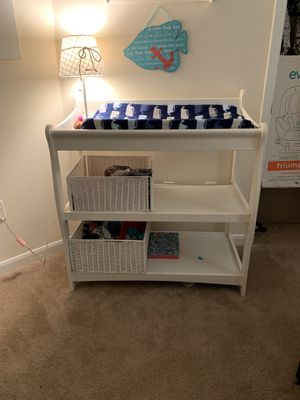 Changing table with baskets and whale lamp for Sale in Canton, GA