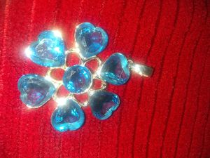 Large blue gem charm set in 9.25 silver for Sale in Los Angeles, CA