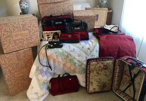 Brighton Luggage (ruby/black) Set for Sale in Snohomish, WA