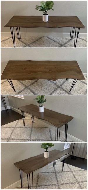 6FT x 2FT Solid Wood Rustic Modern Industrial Live Edge Dining Table for Sale in Pleasanton, CA